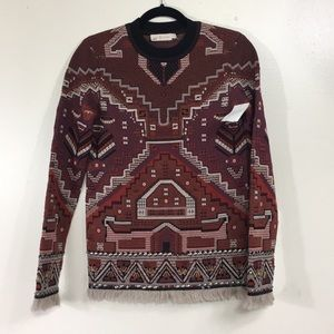 Tory Burch Tapestry Crew Neck Sweater